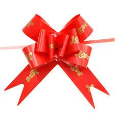 10Pcs Ribbon Pull Bows Flower Wedding Decoration Gift Wrap DIY HU