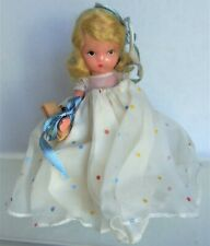 "BISQUE 5"" Nancy Ann Story Book, FRIDAY'S CHILD #184, Frozen Leg, on Stand"