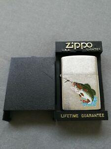 VINTAGE 1992 #200GA550 BASS FISHING ZIPPO LIGHTER MIB RARE
