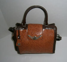 M.C MARC CHANTAL Western Style Brown Tooled Faux Leather Handbag