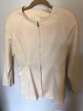 Tristano Onofri Ivory Wool Jacket - Size 8
