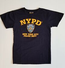 Men' Officially licensed NYPD Blue T-shirt w/yellow print, size Small pre-owned