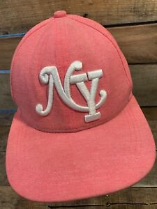 NY New York Pink Women's Snapback Adult Cap Hat