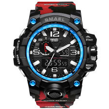 SMAEL Men LED Sport Military Watch - Dual Display Digital Electronic Wristwatch