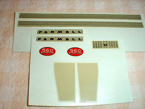 1/16 Scale McCormick Farmall 560 ERTL Farm Toys Decals Water Transfer 1 set NOS