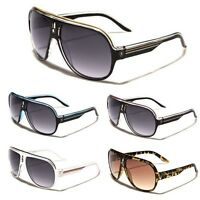 Khan Flat Top Round Frame Mens Womens Aviator Sunglasses Retro Vintage Sunnies