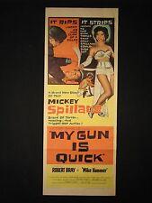 My Gun is Quick 1957 Robert Bray as Mike Hammer Insert Poster