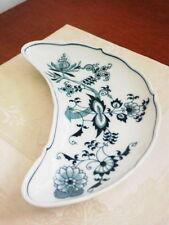 BLUE DANUBE BLUE ONION Crescent Salad Dish Bowl Plate Ribbon Mark - MINT!