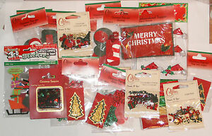 CRAFTERS CHRISTMAS SELECTION PACK APPROX 20 PACKS OF EMBELLISHMENTS