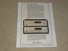 Accuphase DP-80 CD, DC-81 DAC Ad, 1 page, 1987, Article, Info