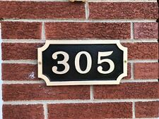 Custom Address Plaque FREE SHIPPING! Traditional William Times Bold Brass