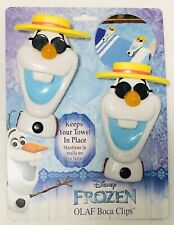 New~Disney Frozen Olaf Set of Two Boca Clips/Towel Clips.