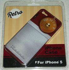 Retro Cell Phone iPhone 5 case cover transistor radio stocking stuffer Xmas red
