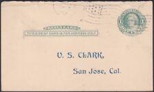 US - 1911 - 1 Cent Green Martha Washington Postal Reply Card #UY6r w Flag Cancel