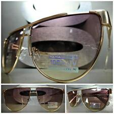 CLASSIC VINTAGE 70's RETRO Style SUN GLASSES SHADES Unique Rose Gold Metal Frame
