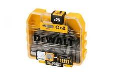 DeWalt 25 x PZ2 Screwdriver Drill Bits in Small TStak Style Box Case Fits Bosch