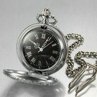Herrenuhr Taschenuhr Rostfreier Stahl Mechanisch Uhr Pocket Watch C5P8 Silb O9D6