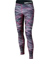 New Youth Girls Nike Pro Hyperwarm tights Small Pink Black
