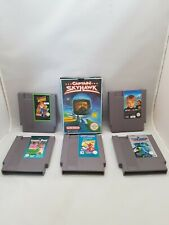 Paquete De 6 Juegos Nintendo NES James Bond Tom Jerry Captain Skyhawk solo en casa