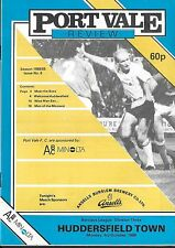 Football Programme>PORT VALE v HUDDERSFIELD TOWN Oct 1988