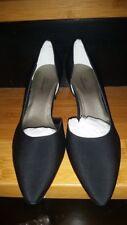 New Ros Hommerson Black Microt Paris Pumps Spool Heel Teflon Vero Cuelo 9 1/2 W