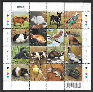 MALTA Sc 1238 NH MINISHEET of 2006 - DOMESTIC ANIMALS