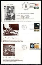 Apollo 14 set 5 (Launch, Landing, 2 Moon exploration & Splashdown) Astro covers