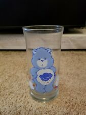 Care Bears Grumpy Bear Drinking Glass - Pizza Hut - Vintage 1983