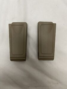 x2 Safariland 71-1-55  Single & Double Stack Magazine Pouch Belt Loop FDE