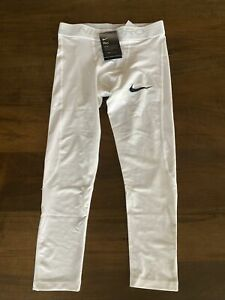Nike Pro 3/4 Compression Tights Pants White Men's Size Small S BV5643-100 NWT