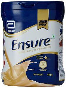 Abbott Ensure Balanced Adult Nutrition Health Drink ( Vanilla)  400g FREE SHIP