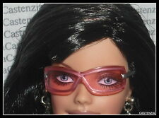 ACCESSORY SUNGLASSES BARBIE DOLL HARD ROCK PINK SILVER FRAME GLASSES FOR DIORAMA