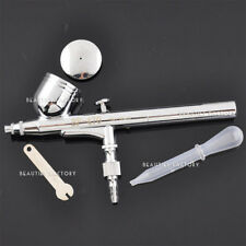 Dual Action Gravity Feed Airbrush Gun 0.3mm Spray Art Paint Kit Tattoo Tool