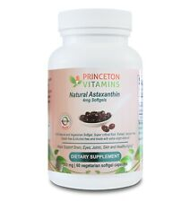 Princeton Vitamins Natural Astaxathin 4mg, Veg Softgel 60 Caps