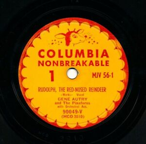 GENE AUTRY on 1949 Columbia MJV-56 - Rudolph the Red-Nosed Reindeer