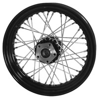 "BLACK 16"" 40 SPOKE REAR WHEEL HARLEY SHOVELHEAD EVO 1979/1999 (EXCEPT FLT)"