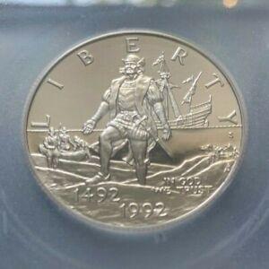 1992 S COLUMBUS COMMEMORATIVE HALF DOLLAR IGC PF 69 DEEP CAMEO GREAT EYE APPEAL