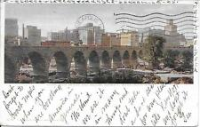 Stone Arch Bridge Milling District Minneapolis MN vintage postally used in 1904