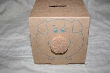 Office Max promotional advertising cardboard box piggy bank w/ cork nose--L@@K!!