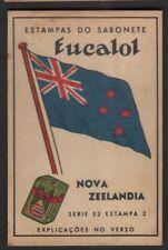 Flag of New Zealand - Nova Zeelandia c1949 Trade Advertising Card