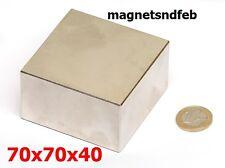 Blockmagnet Neodym-Magnete 70x70x40 Quader