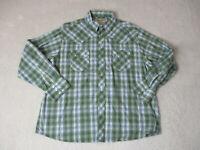 Wrangler Pearl Snap Shirt Adult 2XL XXL Green Silver Rodeo Cowboy Western Mens
