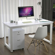 White Computer Desk Study PC Laptop Table Office Home Workstation Wood 47×23×29