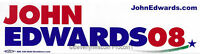 2008 John Edwards for President BUMPER STICKER