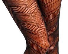 1 Pair of Black Geometric Fishnet Pantyhose Goth OSFM Style # 0963 SHIPS FREE