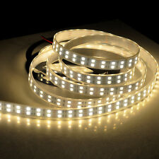 Super Bright Warm White 600Led 16.4ft 5050 LED Strip Light Double Row Waterproof