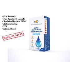 5PK Rapid Heavy Metal Water Lead Test Strips Drinking Well Kit WaterSafe