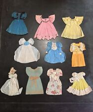 Antique 32pc Handmade Paper Doll Outfits Crepe Paper/ Tissue Paper 1890's