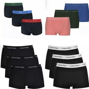 Calvin Klein Men's 3 Pack Low Rise Trunks, All Sizes