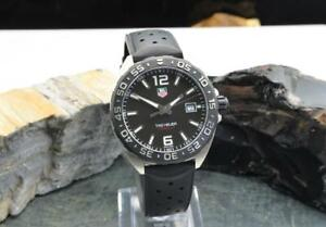 TAG Heuer Formula 1 WAZ1110 Black Dial 41mm Steel Men's Watch
